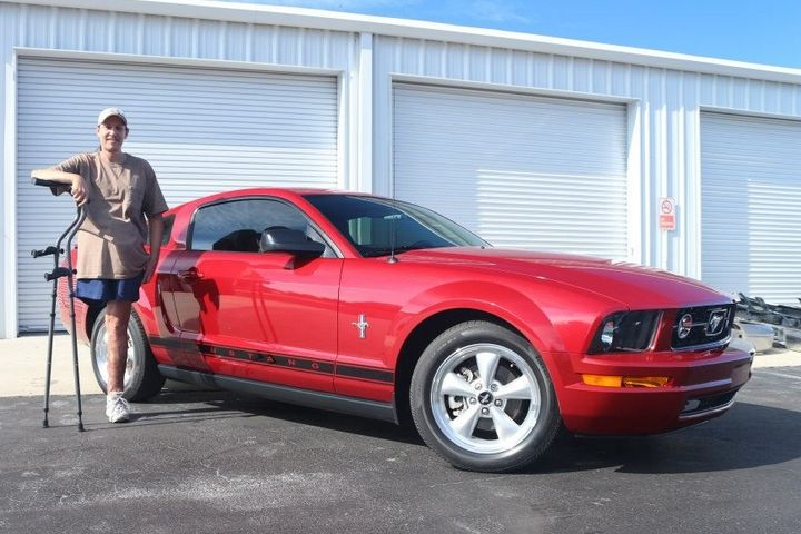Brian And 2008 Mustang V6 Premium Pony Package With Ford Racing Power Pack