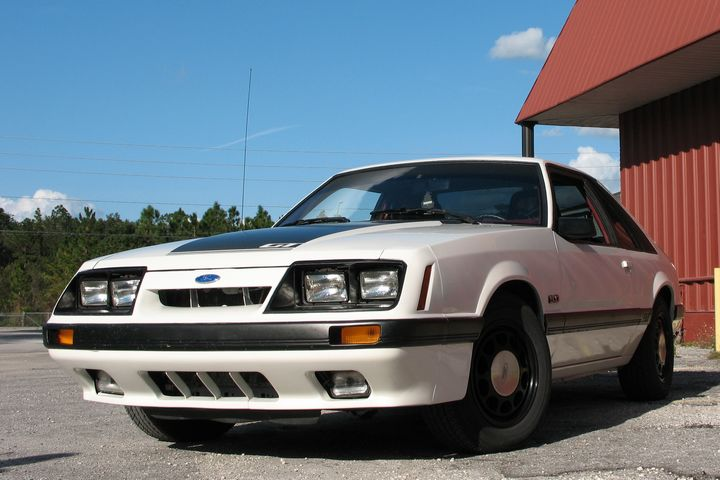 1986 Mustang GT Fox Body from right front